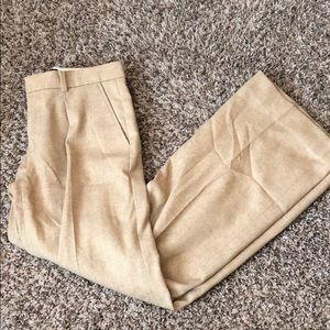 Tan-Highwaisted -Wide Legged Pant